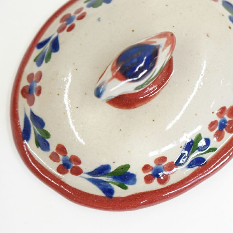 レッド:陶器表面に鉄粉が見られます